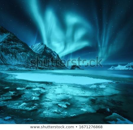 Noite paisagem montanhas luz lua Geórgia Foto stock © Kotenko