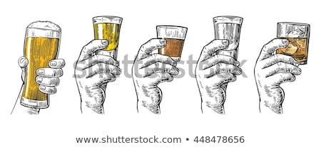Glas wodka geïsoleerd alcohol achtergrond keuken Stockfoto © MaryValery