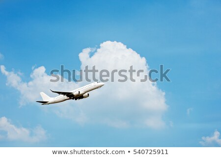 Plane flying to the destination Stock photo © colematt