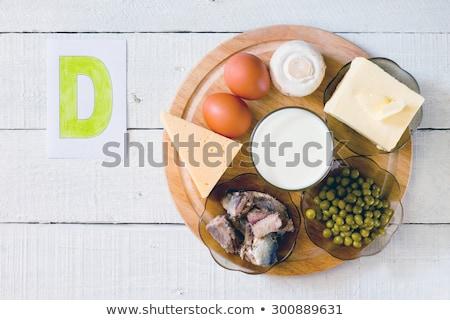 Saine vitamine d mise au point sélective poissons groupe Photo stock © furmanphoto