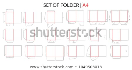 vector set of folder Stock photo © olllikeballoon
