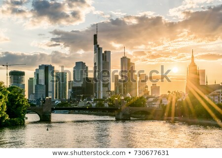 frankfurt panorama and main river stock photo © benkrut