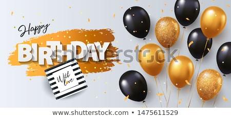 Birthday concept with  present and confetti Foto d'archivio © mythja