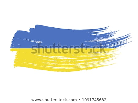 Grunge fırçalamak Ukrayna bayrak boyama simge Stok fotoğraf © kyryloff