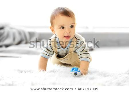 bonitinho · bebê · sessão · verde · cobertor · belo - foto stock © dariazu