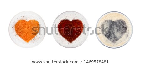 Glasses of red ale stout and lager beer top heart Stock photo © DenisMArt
