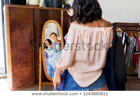 少女 · ミラー · 十代の少女 · 顔 · 美 · 代 - ストックフォト © dolgachov