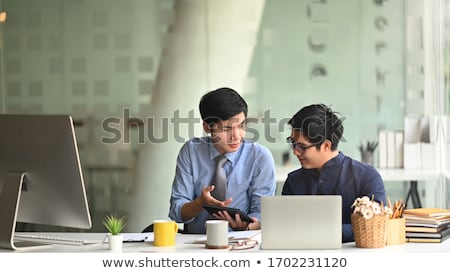 business man and secretary presentation report, two colleague ex stock photo © Freedomz