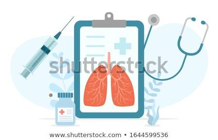 ワクチン接種 医療 女性 医師 白 コート ストックフォト © jossdiim