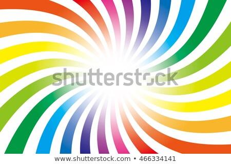 Rainbow turbinio star verde blu onda Foto d'archivio © SArts
