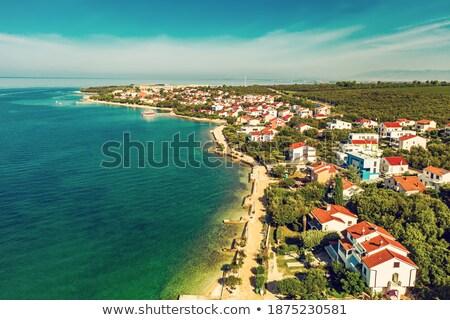 ストックフォト: Petrcane Tourist Destination Coastline Aerial View