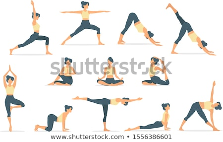 Yoga position Stock photo © Lopolo