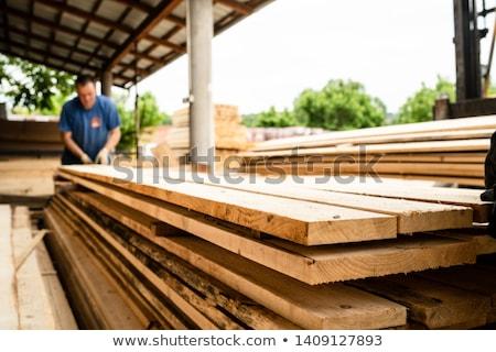 gebouw · timmerhout · bouwplaats · smal · hout - stockfoto © imaster