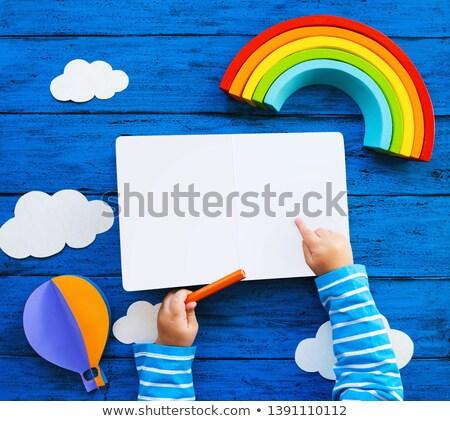 Boyama Kitabi Cocuklar Kalem Kitap Mutlu Vektor