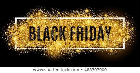 abstract black friday sale banner with sparkles Stock photo © SArts