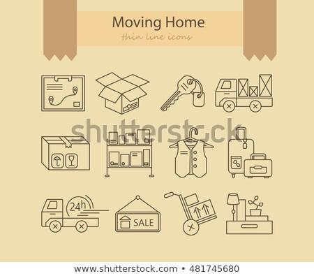 Lineair huis home icon voorraad geïsoleerd Stockfoto © kyryloff