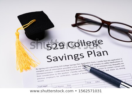 Kolegium oszczędności plan formularza mały ukończeniu Zdjęcia stock © AndreyPopov