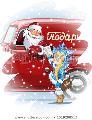 Cartoon снега почтальон вектора Сток-фото © mechanik