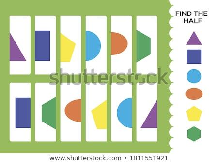 Talál forma logika háromszög oktatási játék Stock fotó © Olena