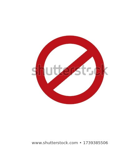 empty ban sign, prohibited not allowed red sign, Stock Vector illustration isolated on white backgro Stock photo © kyryloff
