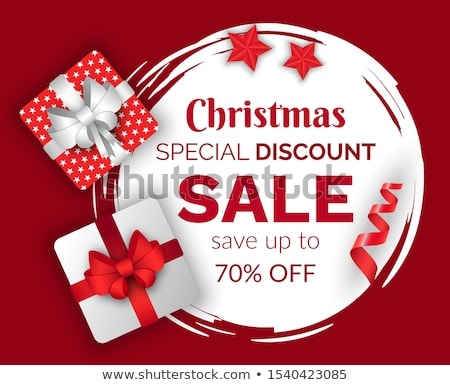 Christmas Sale 70 Percent Lowering of Price Winter Stock photo © robuart