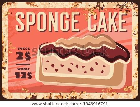 Słodkie sklep kremowy ciasto reklamować plakat Zdjęcia stock © pikepicture