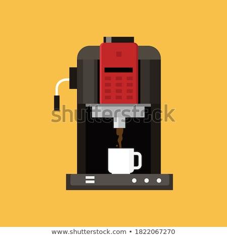 электронных оборудование кофе пить вектора Сток-фото © robuart