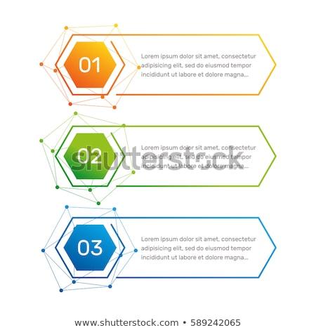 three steps infographic in hexagonal shape design Stock photo © SArts