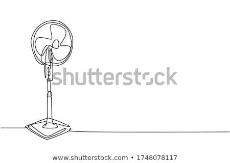Fan ikon beyaz bilgisayar imzalamak rüzgâr Stok fotoğraf © smoki