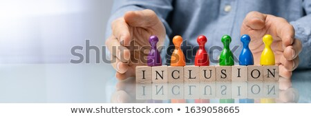 Tekst man gekleurd handen mannen Stockfoto © AndreyPopov