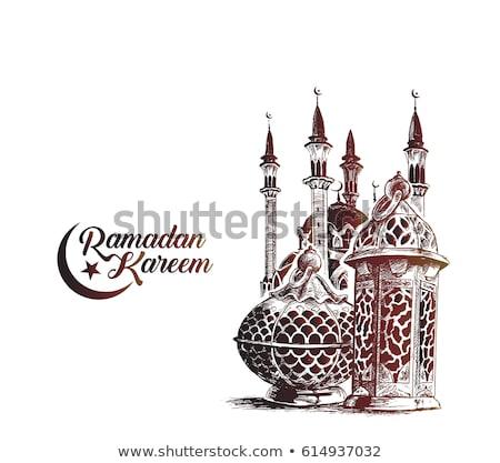 Elegante ramadan mesquita festival bandeira projeto Foto stock © SArts