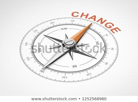 3D boussole aiguille pointant texte changement Photo stock © tashatuvango