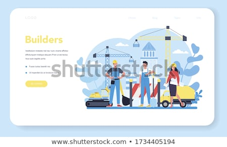 Modern construction machinery concept landing page Stock photo © RAStudio