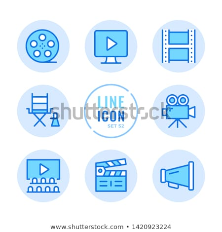 Kleurrijk multimedia productie icon workflow Stockfoto © barsrsind