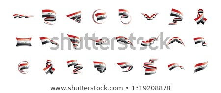 Iraqi flag, vector illustration on a white background Stock photo © butenkow