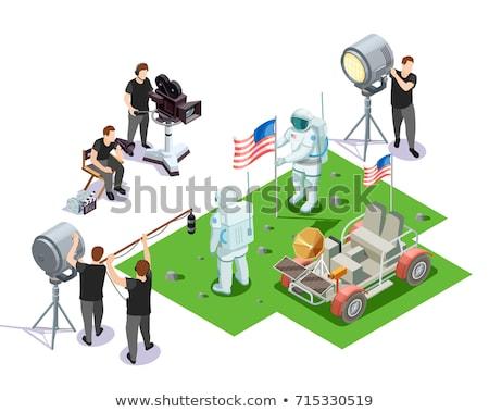 Astronaut Equipment Isometric Icons Set Vector Stock photo © pikepicture