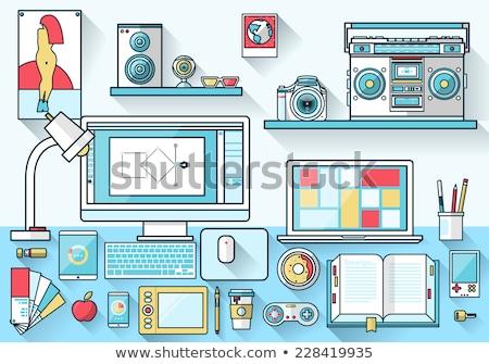 Haut-parleur appareil icône vecteur illustration Photo stock © pikepicture