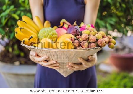 разнообразие плодов Hat женщину баннер долго Сток-фото © galitskaya