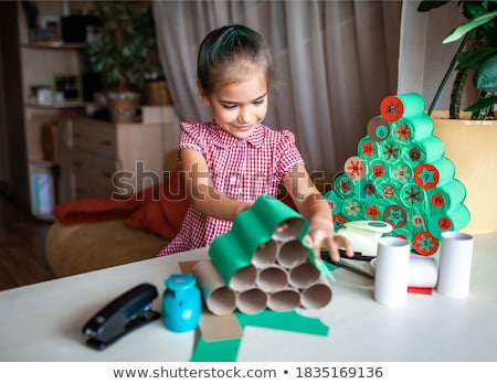 kinderen · recycling · plastic · flessen · meisje · kind - stockfoto © photography33