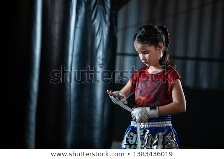 Little girl with boxing gloves Stock photo © photography33