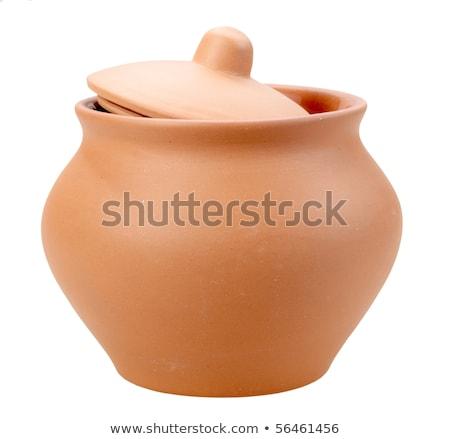 Single closed ceramic pot Stock photo © boroda