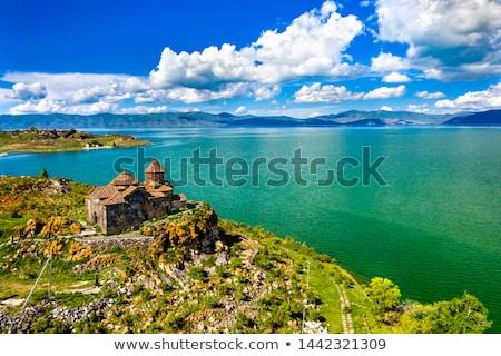 ancient armenian church on lake sevan armenia stock photo © travelphotography