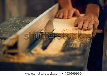 craftsman cutting a board stock photo © photography33