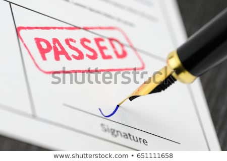 passed the test Stock photo © shutswis