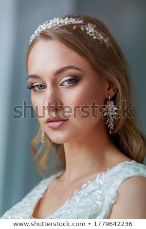 noiva · penteado · belo · projeto · cabelo · beleza - foto stock © rosipro
