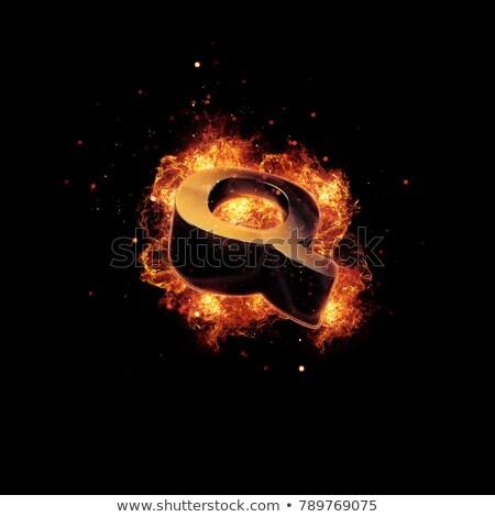 lángoló · levél · tüzes · tűz · háttér · piros - stock fotó © melpomene