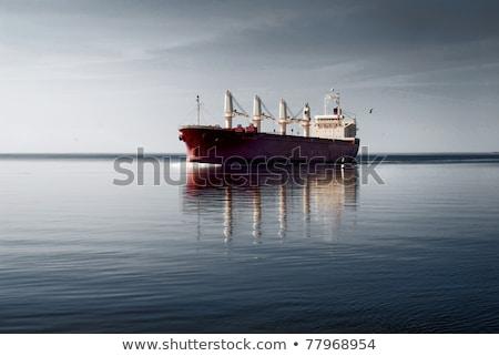 Cargo Ship near the coastline Stock photo © bigjohn36