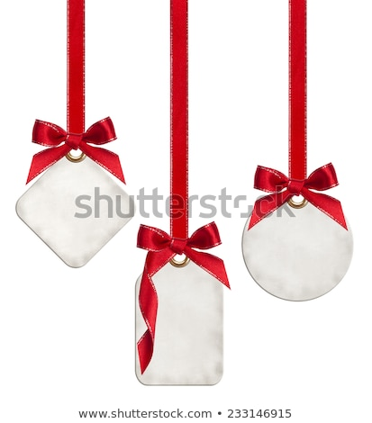 Sale Price Tag With red Ribbon Bow tie Stock photo © Lightsource