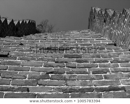 steep stairway to the great wall in china stock photo © tab62