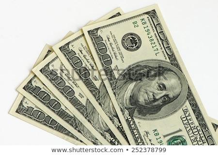 dolar · rulo · el · beyaz · şerit · kadın - stok fotoğraf © shutswis